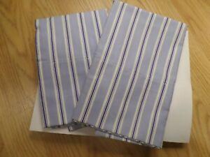 Ralph Lauren TAMARIND STRIPE  Two  Standard Pillowcases - NEW - NOT IN PACKAGING