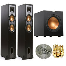"""Klipsch R-26F Floorstanding Speaker (Pair) w/ R-10SW 10"""" 300w Subwoofer"""