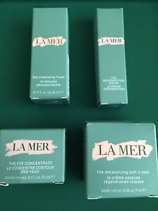 NEW 4 LAMER DELUXE SET EYE CONCENTRATE/SERUM/SOFT CREAM/CLEANSING FOAM/EYE MASK