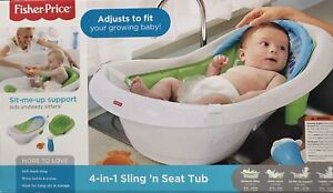 Fisher-Price 4-in-1 Sling 'n Seat Baby Bath Tub FREE SHIPPING