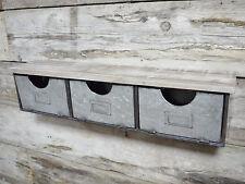 NUOVO Industriale mobili 3 Cassetti Petto ARMADIO SCAFFALATURE parete Unità 76cm