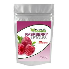 60 STRONG RASPBERRY KETONE MAX STRENGTH 600MG DIET WEIGHT LOSS SLIMMING PILLS