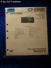 Sony Service Manual ICF SW600 12 Band Receiver (#3067)