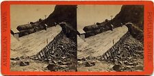 E & HT Anthony stereoview (1870's) Snow Shed Exterior, under Donner Peak, CA