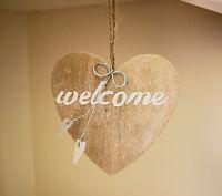 Gisela Graham Welcom Mini Wooden Heart Sign