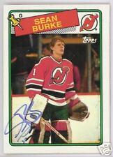 SEAN BURKE 1988 TOPPS NEW JERSEY DEVILS  AUTOGRAPHED HOCKEY CARD JSA