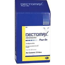 DECTOMAX POUR-ON 5 mg Doramectin Cattle Dewormer Weatherproof 2.5 liter