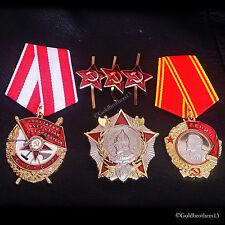 SET Order of Lenin , Order of the Red Banner , Nevsky & Red Stars badges Repro