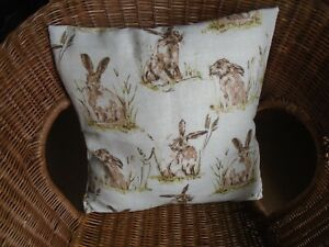 Hare Cushion Cover To fit 40 cm x 40 cm Cushions Hares Rabbit Home Decor Gift UK
