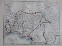 1897 Viktorianisch Landkarte ~ Sudan Central Dahomey Togo Kamerun Nigeria