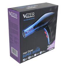 Haartrockner 2000W Super Shine Wizer blau/schwarz mit Aufsatzdüse u. 210cm Kabel