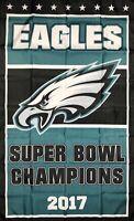 Philadelphia Eagles NFL Super Bowl Championship Flag 3x5 ft Banner Man-Cave Bar