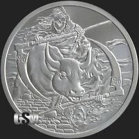 1 oz Rate Reaper Inverted BU MiniMintage Silver Round Silver Shield .999 Fine
