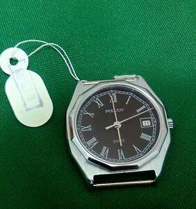 Poljot, quartz watch, vintage with roman numerals, ladies wrist watch with tags