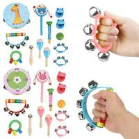 13pcs Set Wooden Kids Baby Musical Instruments Toys Children Toddlers Percussion