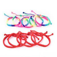 5 stücke doppelte rote regenbogen string handgewebte seil männer lady armband xj
