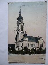 Ansichtskarte Hockenheim 1914 Evang. Kirche