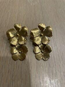 jennifer behr gold flower earrings