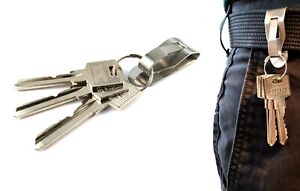 Clip-on Belt Key Ring Holder - Caretaker Security Equipment