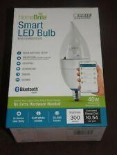 HOME BRITE - SMART LED BULB - B10 CHANDELIER - BLUETOOTH SMART - WHITE   (RM-2)