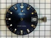Enicar Montre Horlogerie Pièce de Rechange Cal 161 Star Jewels avec Date Bleu