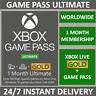 Xbox Live 1 Month Gold & Game Pass Ultimate Membership (2 x 14 Day) INSTANT CODE
