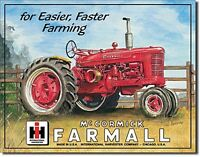 Holder Tractor metal postcard mini-sign  110mm x 80mm hi