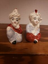 Mid Century Modern Couple From India Salt & Pepper Shakers made Japan