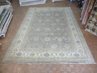 14'2 X 19'9 Hand Knotted Silver Blue Oushak Oriental Rug Ushak G6101