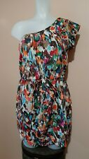 XXI Forever 21 Print One-shoulder Mini Dress, sz M