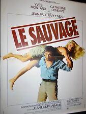 catherine deneuve LE SAUVAGE ! y montand affiche cinema  1975