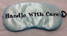 Mud Pie Embroidered Blue Eye Sleep Mask Stocking Stuffer / Bridal Shower Gift