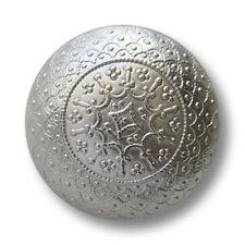 5 edle filigran gemusterte silberfb. Metallknöpfe in Halbkugel Form (1546si)