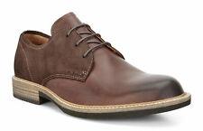 Men's ECCO Kenton Plain Toe Tie Leather Brown Shoes 512004 50255