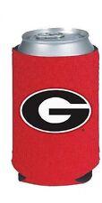 U. OF GEORGIA UGA BULLDOGS NEOPRENE TEAM-COLOR RED CAN DRINK HOLDER WITH LOGO G