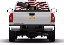 American Flag Eagle #2 Rear Window Graphic Vehicle Tint Truck Decals Stickers