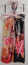 Arden B Dress Sublime Floral Halter Necklace Fit & Flare Slinky Dress Size M