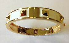 Mikey London White & Gold Stud Bracelet, Bangle Ladies, Brand New Fashion