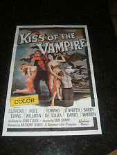 """KISS OF THE VAMPIRE Original Movie Poster, 27""""x41"""", C8.5 Very Fine to Near Mint"""