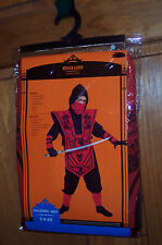 RED/BLACK NINJA LORD COSTUME Small (4-6X) Boys Child Dress Up Halloween NEW