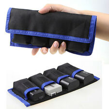 4 Pockets Waterproof Camera Battery Bag Case Pouch for LPE6/8 NPFW50 ENEL14/15