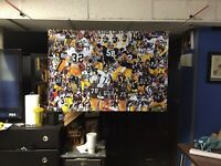 BIG 44x30 PITTSBURGH STEELERS Vinyl Banner POSTER franco Harris Art Jack Lambert