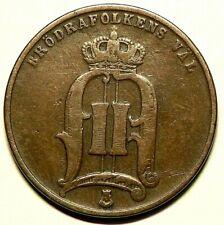 1880 Sweden 5 Ore KM# 736 Copper #10071