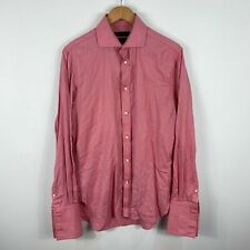 Country Road Button Up Shirt Mens Size Small Red Plaid Long Sleeve Collared