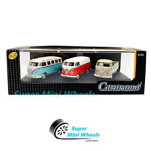 Cararama 1:72 Volkswagen Bus / T1 Transporter / T1 Pickup - 3-Car Set