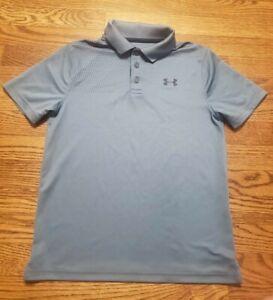 Boys Under Armour Golf Polo Shirt Size Youth Medium