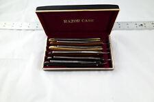 Straight Razor Lot With Storage Case