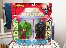 MARVEL Hulk VS Rhino - Shape Shifters Action Figure Set - Rhino Variant Rare