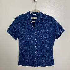 Ambercrombie & Fitch Blue Button Down Shirt Muscle Size Medium