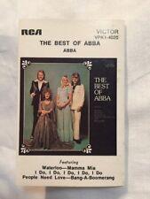 VINTAGE- THE BEST OF ABBA - - Rare 1975 Australian  Cassette (Tape)
